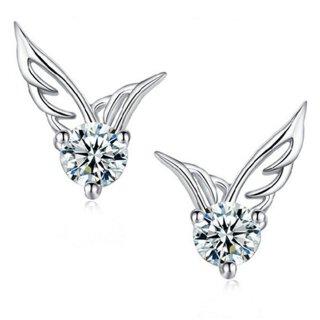 Ohrringe Flügel - Swarovski Elements Silber 925 Plattiert