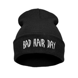 Bad Hair Day Beanie Mütze Schwarz