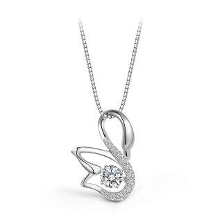 Halskette Schwan Swan Anhänger Echtes Sterling-Silber 925