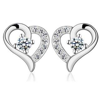Ohrstecker - Swarovski Elements - Silber 925 Plattiert Herz Heart
