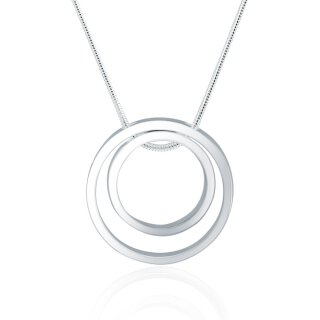 Halskette Kreis Ring Anhänger Silber 925 plattiert