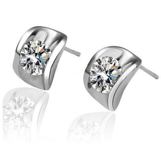 Ohrringe Stein - Swarovski Elements - Silber 925 Plattiert