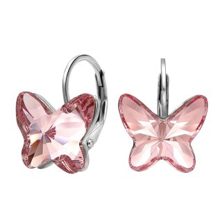 Swarovski Elements - The Pink Butterfly Rosa Vergoldet