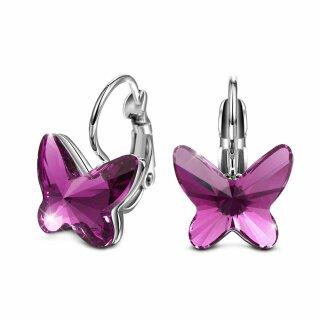 """Swarovski Elements - """"The Purple Butterfly"""" Lila Rhodiniert"""
