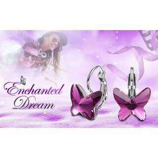 Swarovski Elements - The Purple Butterfly Lila Rhodium